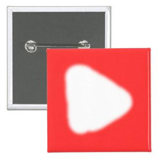 Botón del logotipo de YouTube Pin Cuadrado