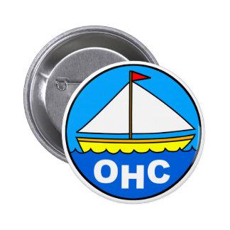 Botón del logotipo del barco pin redondo de 2 pulgadas