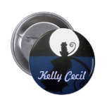 Botón del logotipo del gato de Kelly Cecil Pins