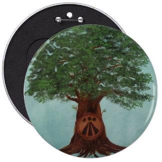 botón del logotipo del oaklight pin redondo de 6 pulgadas