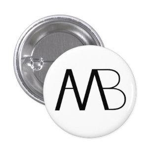 Botón del logotipo del puente AMB del hombre del h Pin Redondo De 1 Pulgada