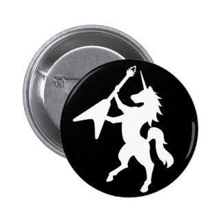BOTÓN del LOGOTIPO del unicornio Pin Redondo De 2 Pulgadas