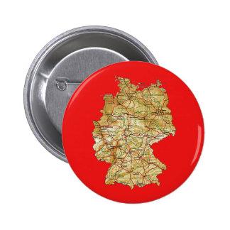 Botón del mapa de Alemania Pins