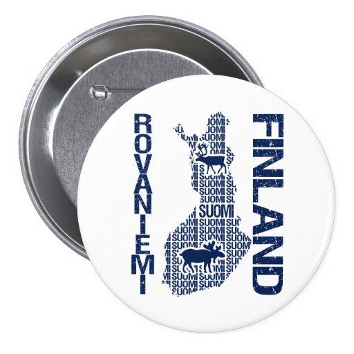 Botón del MAPA de FINLANDIA - Rovaniemi Pins