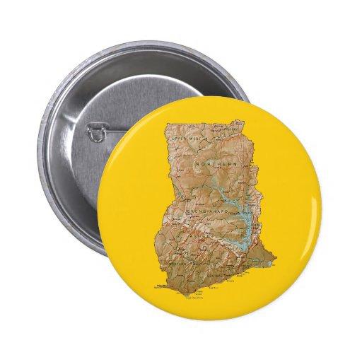 Botón del mapa de Ghana Pin