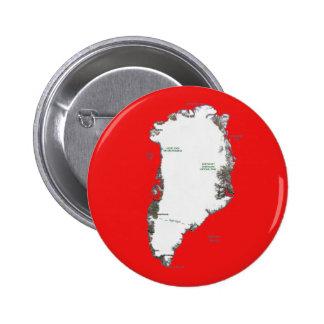 Botón del mapa de Groenlandia Pin Redondo De 2 Pulgadas