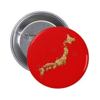 Botón del mapa de Japón Pin