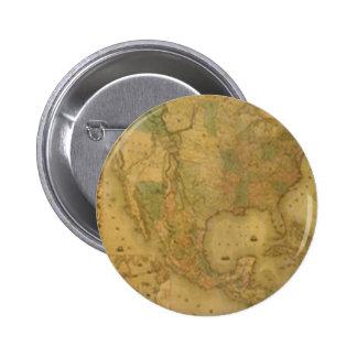 Botón del mapa de los E.E.U.U. Pin Redondo De 2 Pulgadas