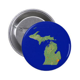 Botón del mapa de Michigan Pins