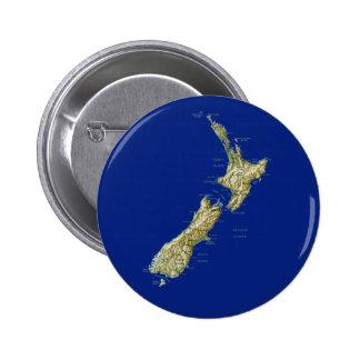Botón del mapa de Nueva Zelanda