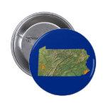 Botón del mapa de Pennsylvania Pins