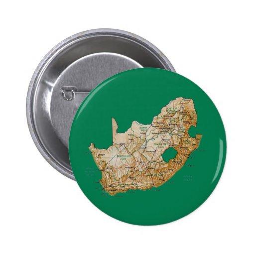Botón del mapa de Suráfrica