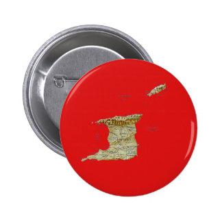 Botón del mapa de Trinidad and Tobago Pin Redondo De 2 Pulgadas