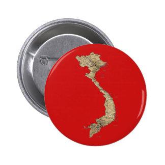 Botón del mapa de Vietnam Pins