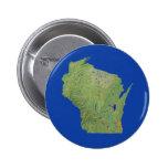 Botón del mapa de Wisconsin Pins