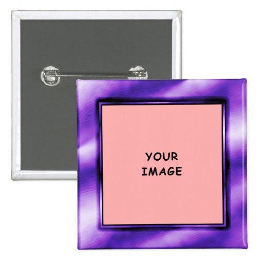 Botón del marco de la foto de la púrpura real pins
