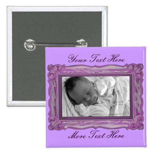 Botón del marco de la lila