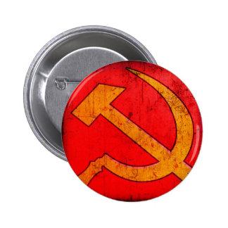 Botón del martillo y de la hoz de URSS del Pin Redondo De 2 Pulgadas