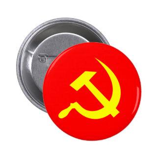 Botón del martillo y de la hoz pin