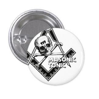 botón del masónico-tónico-con-cráneo