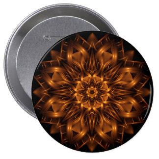Botón del medallón del cobre del oro viejo pin redondo de 4 pulgadas