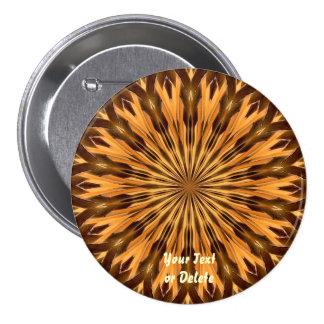 Botón del medallón del escudo de la pluma pin redondo de 3 pulgadas