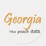 Botón del melocotón de Georgia Etiquetas Redondas