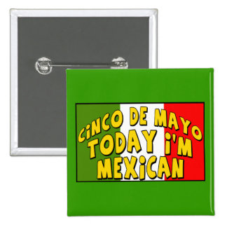 Botón del mexicano de Cinco de Mayo Pins