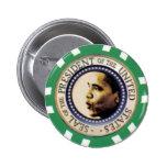 Botón del microprocesador del casino de Obama Pin