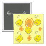 botón del modelo del amarillo del pájaro de bebé pins