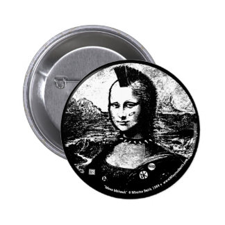 Botón del Mohawk de Mona Pin Redondo De 2 Pulgadas