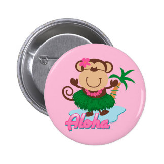 Botón del mono de la hawaiana pin