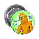 Botón del mono de la mofeta pins