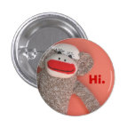 Botón del mono del calcetín pin