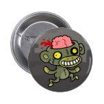 Botón del mono del zombi pin