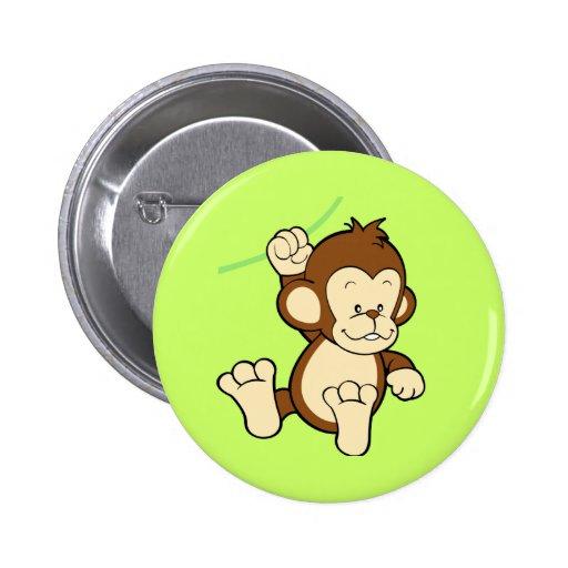 Botón del mono pin