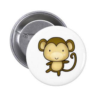 Botón del mono pin redondo de 2 pulgadas