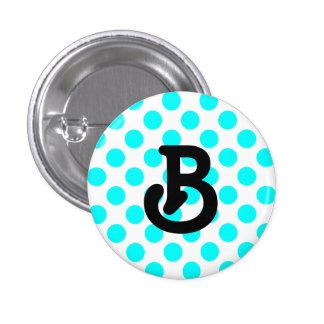 Botón del monograma de B Pins