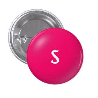 Botón del monograma de S Pin