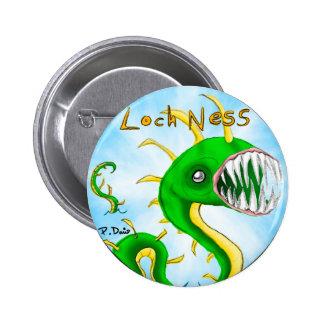 Botón del monstruo de Loch Ness Pin Redondo De 2 Pulgadas