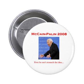 Botón del monstruo del discusión de McCain Pins
