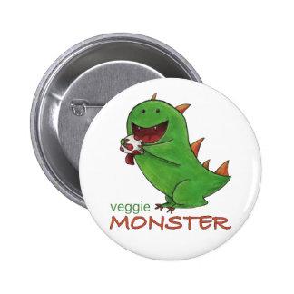 Botón del monstruo del Veggie