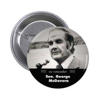 Botón del monumento de George McGovern Pin Redondo De 2 Pulgadas