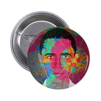 Botón del Mosaico-estilo de Obama Pin Redondo De 2 Pulgadas