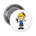 Botón del muchacho #3 de Budgie (BU11-3b2) Pins