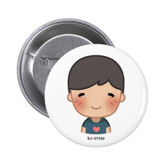 Botón del muchacho de la HJ-Historia Pin Redondo De 2 Pulgadas