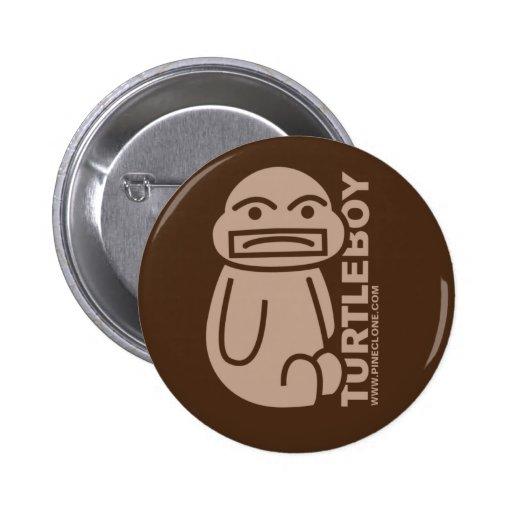 Botón del MUCHACHO de la TORTUGA Pin Redondo De 2 Pulgadas