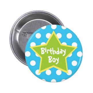 Botón del muchacho del cumpleaños