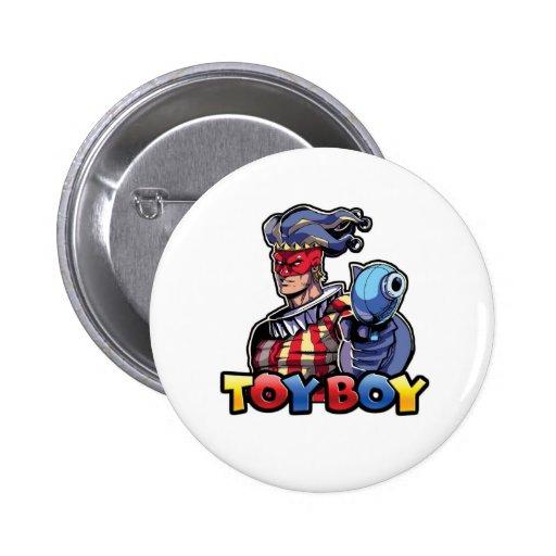 Botón del muchacho del juguete pin