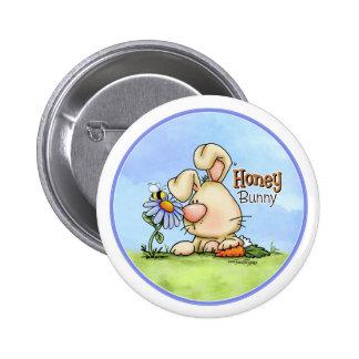 Botón del mundo del conejito de Hunny